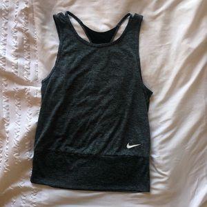 Nike dry-fit athletic tank top grey